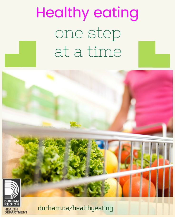Eating healthy doesn't have to happen all at once. Take small steps and make healthier changes one at a time. When you're ready, add more changes. Take a look for some great ideas to get started.