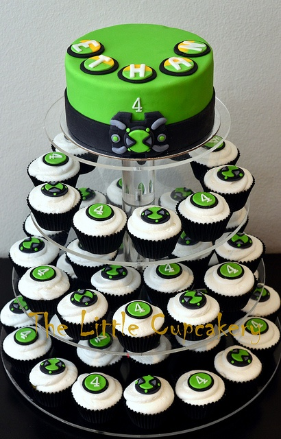 Ben 10 Omnitrix Watch Cupcake Tower by TheLittleCupcakery, via Flickr