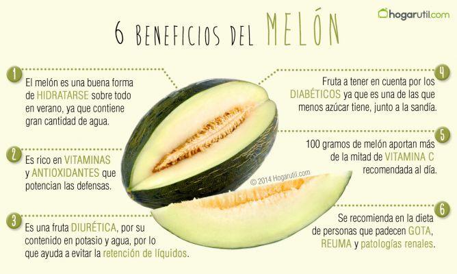 Melón, características y propiedades nutricionales. 6 beneficios nutricionales del melón. El melón es una fruta refrescante propia de los meses de verano. Descubre sus características, conservación y propiedades nutricionales. #frutas #melón #nutrición