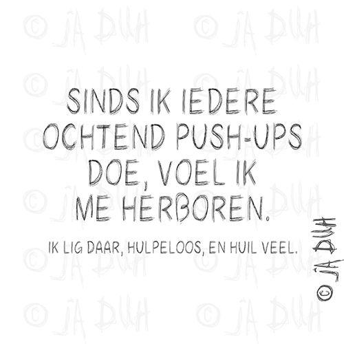 Push-ups Door © Ja Duh #Humor #sport #herboren