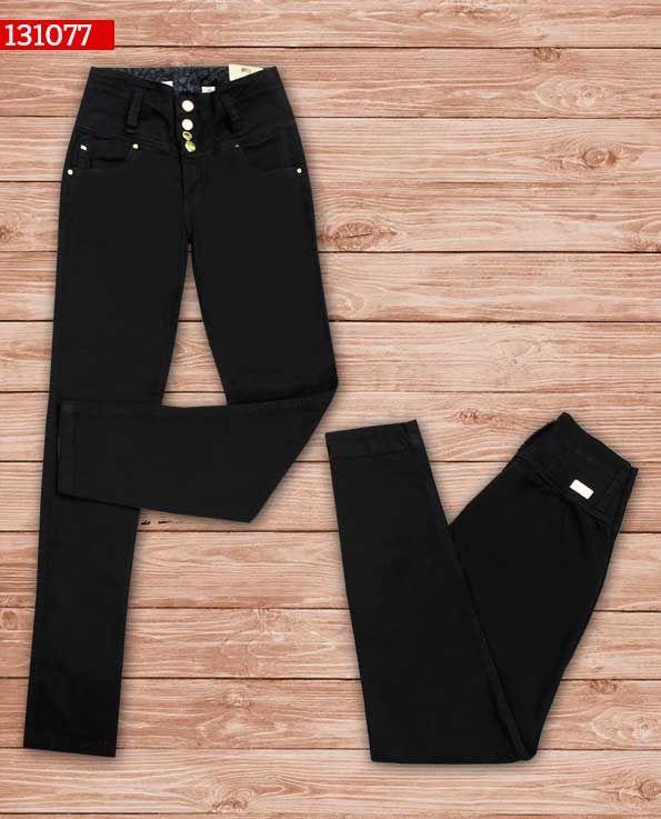 Pantalon-dama-color negro-bota-recta-ref-131077- #fashion #women #ropademoda