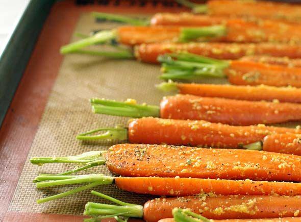 Mustard roasted carrots