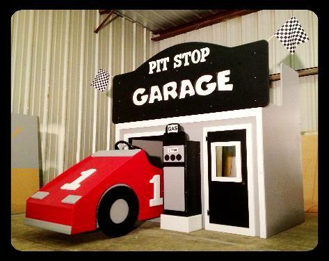 Race Car Garage Kids Bunk Bed Racecar Disney Themed