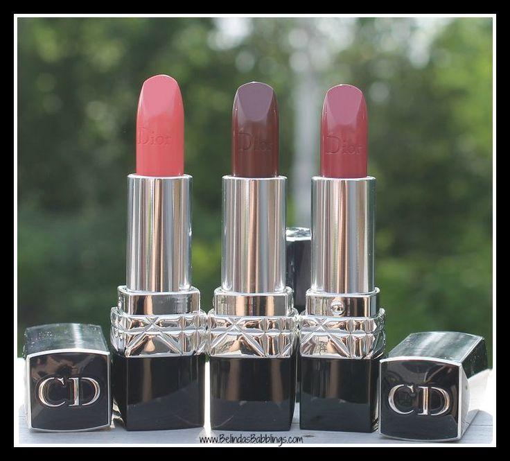 Fall 2015 Dior Rouge Lipsticks- Nouvelle Femme, Unique, Continental