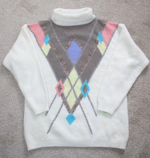 VENTE laine dAGNEAU Vintage ANGORA pull en par FoxyBritVintage