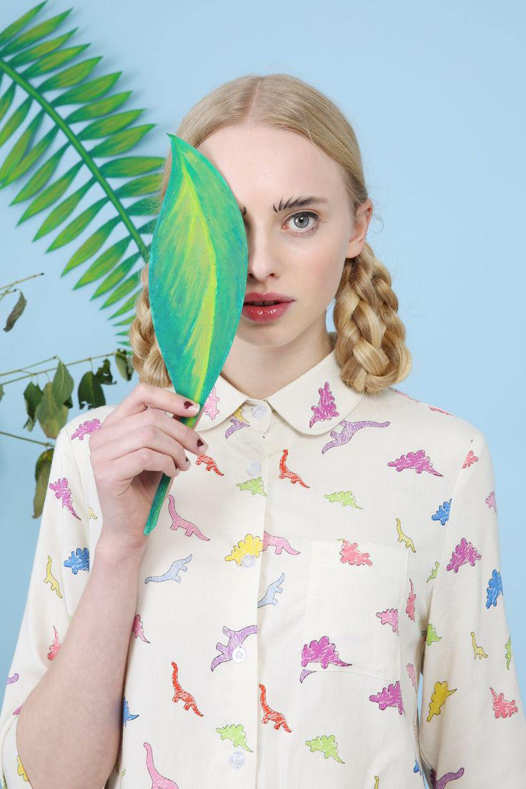 "thewhitepepper: ""Who needs a date? Fall in love with our dinosaur print shirt, the cutest thing in your wardrobe! And don't forget to play our ""Find the Heart"" on our website to win a £10 voucher!..."