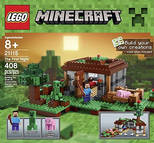 LEGO Minecraft The First Night (408pcs) Figures Building Block Toys @ niftywarehouse.com