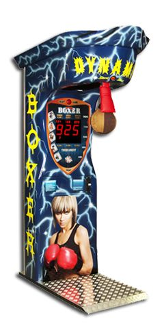 Boxer Dynamic. Dynamically shaped boxing machine ideal for airbrush or promotion.