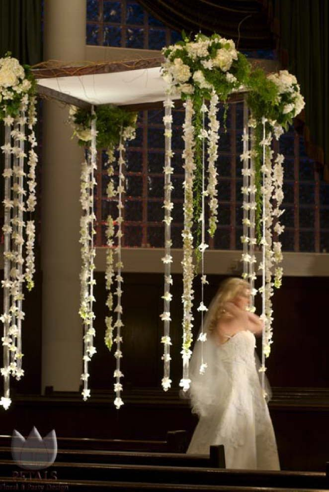indoor wedding arches. draped floral streamers arbor decor petals and party design indoor wedding arches