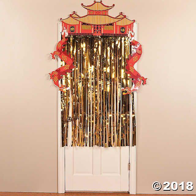 Foil Dragon Door Curtain Door Curtains Doorway Decor Decor