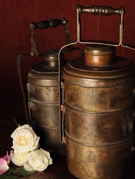brass tiffin - vintage lunch box India