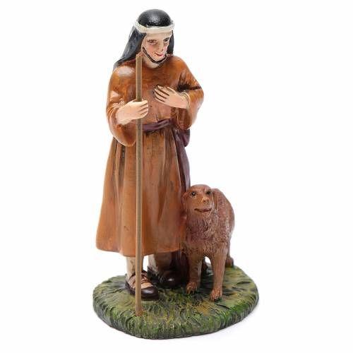 40d8151425c Pastor con perro resina belén 10 cm Línea Martino Landi