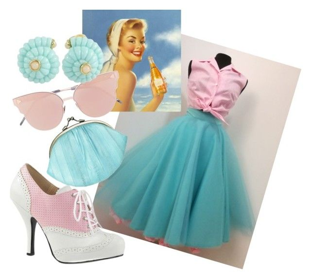 """""""vintagesummer"""" by ticci-1 on Polyvore featuring Pleaser, BeckSöndergaard, So.Ya, Replica and vintage"""