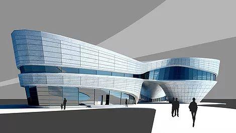 здание бионика модель, 3d бионика, модель в 3d Max