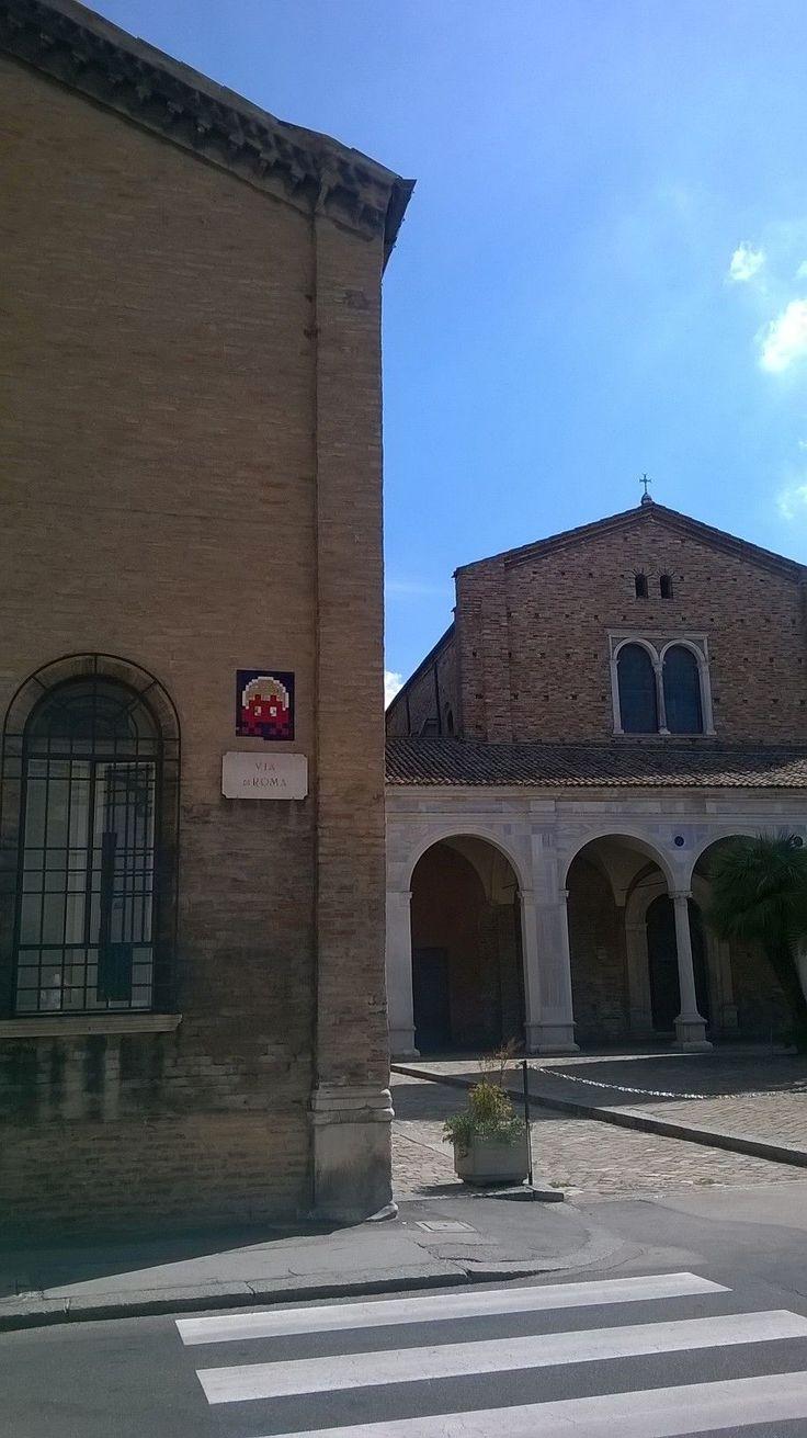 Space Invader_via di Roma, Sant'Apollinare Nuovo