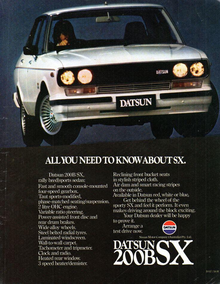 https://flic.kr/p/21Kuif4 | 1980 Datsun 200B SX Nissan Sedan Aussie Original Magazine Advertisement