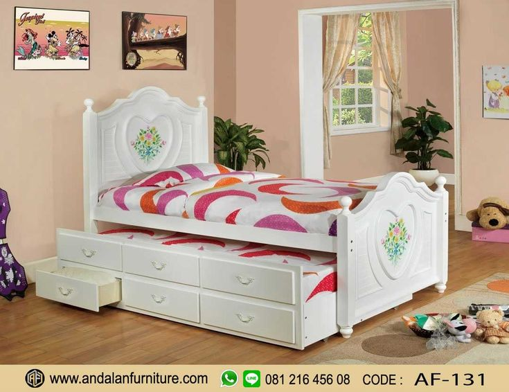 Tempat Tidur Anak Sorong Perempuan