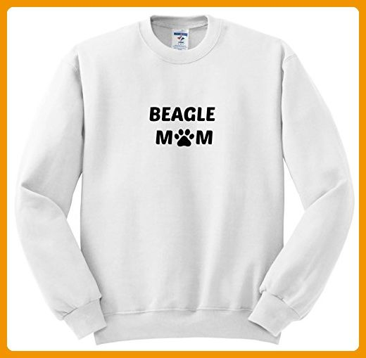 Xander animal quotes - Beagle mom, picture of a dog paw on a white background - Sweatshirts - Adult SweatShirt Small (ss_256547_1)
