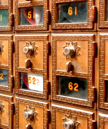 Post office boxes #mail #boxes #numbers