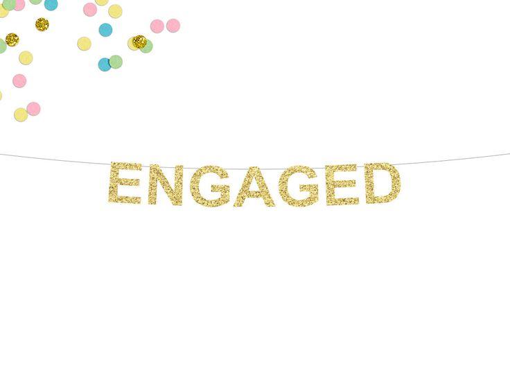Engaged Glitter Banner | Engagement Banner | Engagement Party | Engagement Sign | We're Engaged | Engagement Decor | Bridal Shower Decor by SocialBashAndCo on Etsy https://www.etsy.com/listing/491893831/engaged-glitter-banner-engagement-banner