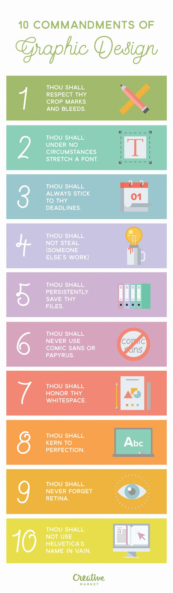 Poster design rules - Infographic 10 Commandments Of Graphic Design