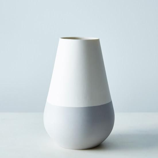 White and Gray Ceramic Vase; For beautiful blooms. #food52