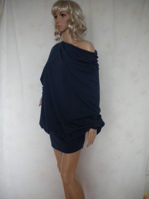 off shoulder batwing sleeve oversize cotton by EcoFriendlyForU