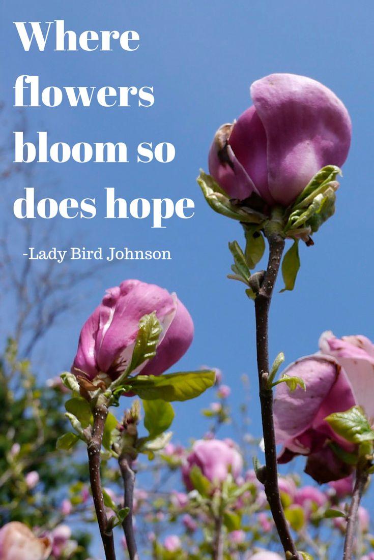 where flowers bloom so does hope lady bird johnson