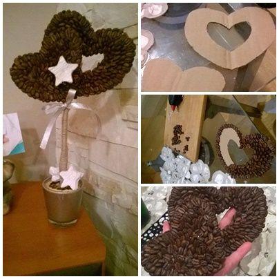 Drzewko kawowe serca gwiazdy