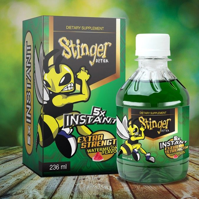 Hire freelance Stinger detox is redesigning its bottle label. Looking for the right designer for a full line! by Yoga Zoeko