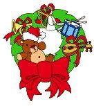 Coronas de Flores Navidad Gif Animaciones  Gratis
