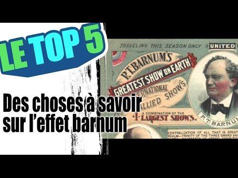 Le top 5 des choses a savoir sur l'effet barnum - YouTube