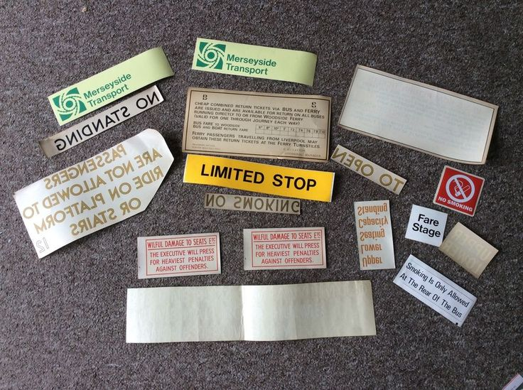 Merseyside Transport and Others Livery, Notices & Stickers | eBay