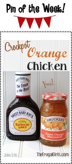 Crockpot Orange Chicken Recipe! ~ from TheFrugalGirls.com {this Slow Cooker chicken dinner recipe is so easy... and SO delicious!!} #slowcooker #recipes #thefrugalgirls