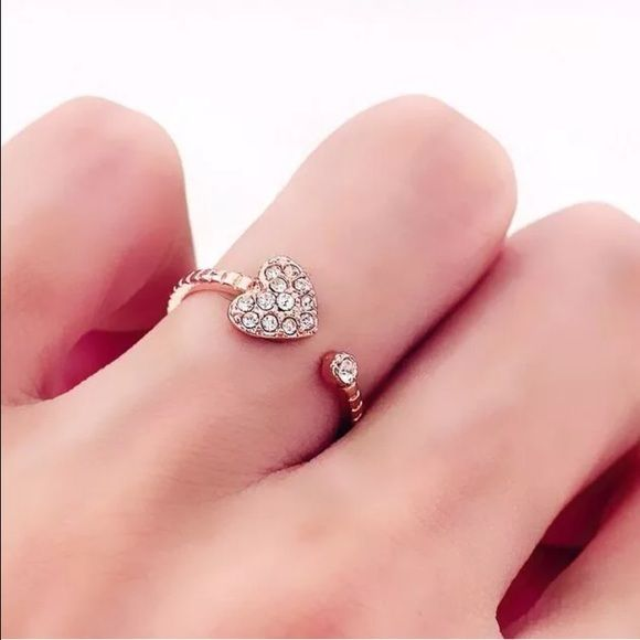 Cute Heart CZ Gold Filled Ring Brand New #R071 Jewelry Rings