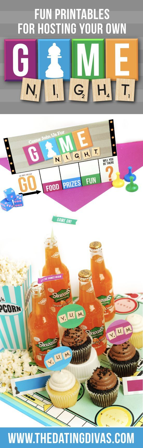 Game Night Group Date Night- such a fun idea. Free printable download from The Dating Divas