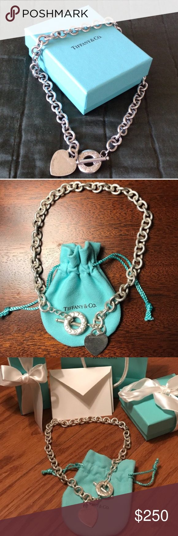 Tiffany and C.O heart necklace 100% authentic 100 percent authentic Tiffany and co necklace Tiffany & Co. Jewelry Necklaces