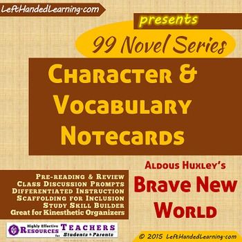 An analysis of the topic of the brave new world characters by aldous huxley