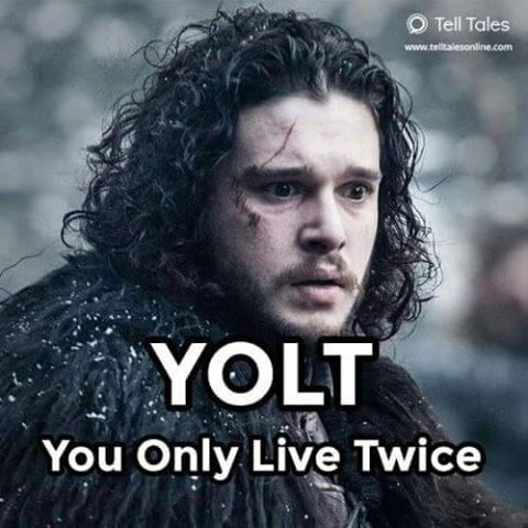 Game of Thrones. John Snow, I think the best way to describe this has to be: He's still breathing, he's still breathing, he's aliveeeeeeeee, he's aliveeeeeee, check it out!