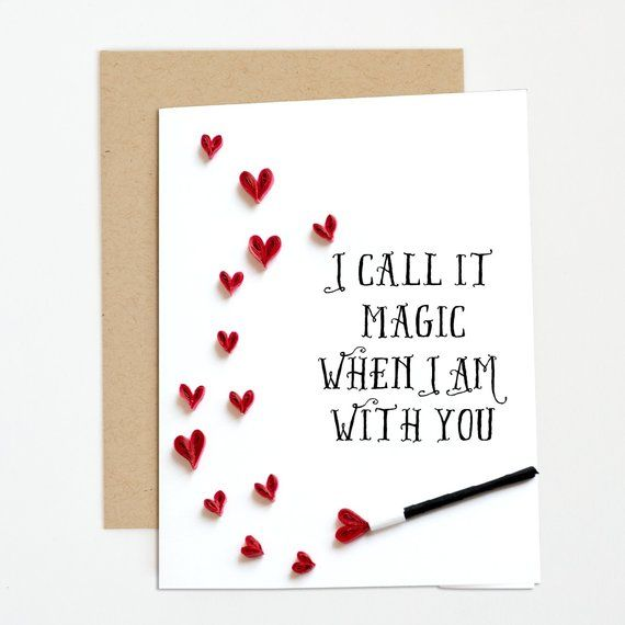 I love you card. Tiny paper hearts. Coldplay song lyrics. Cute gift for husband,…