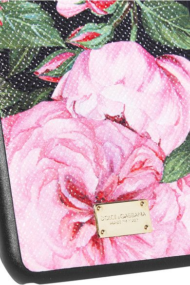 Dolce & Gabbana - Printed Textured-leather Iphone 6 Plus Case - Pink - one size