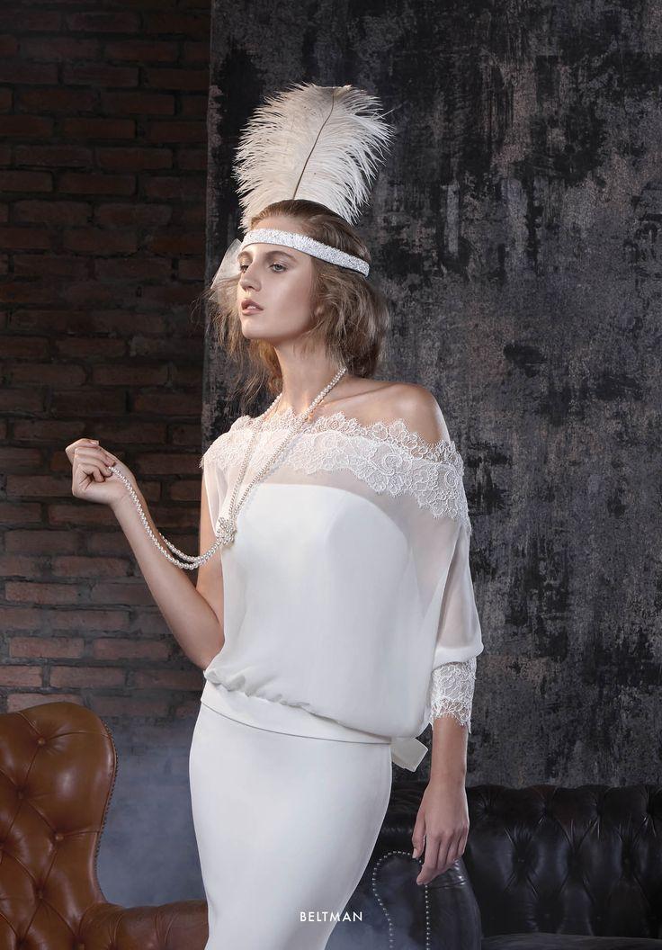 Collezione Vision 2015 - Elisabetta Polignano: Abito da sposa di seta scivolato #wedding #weddingdress #weddinggown #abitodasposa