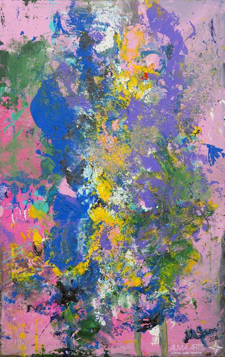 "Mehriban Shamsadinskaya - Alma Arts Agency ""Pink Scream"", 2014. Oil on canvas 110x80cm"