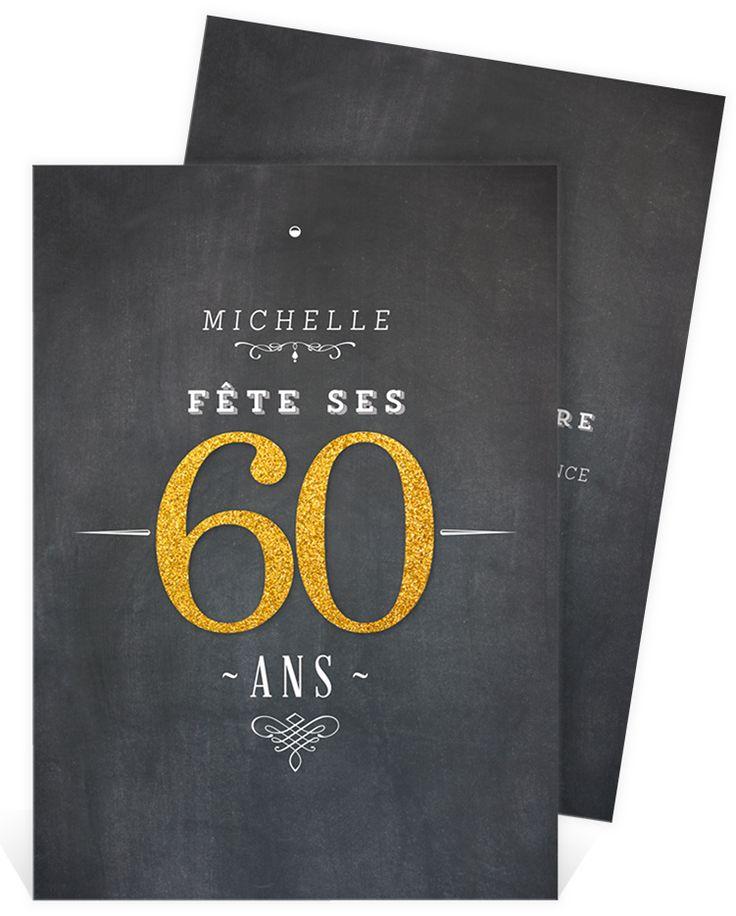 Fabuleux Les 25 meilleures idées de la catégorie Invitation anniversaire 60  LL71