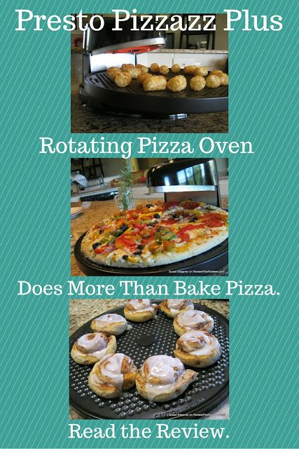 The Presto Pizzazz Pizza Oven does more than bake pizza. Use it to prepare convenience foods and snacks, even cookies and cinnamon rolls!