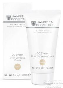 Тональный CC-крем SPF 30 CC Cream Color Corrective Cream Medium (Janssen)
