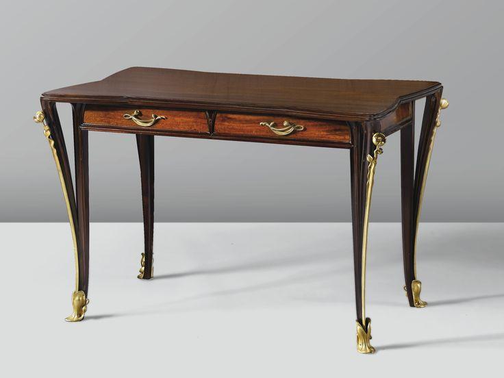 ** Louis Majorelle (France 1859–1926), Nancy, Desk, Mahogany.