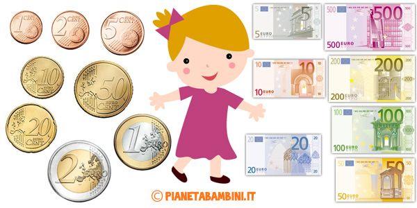 Esercizi sull'euro per bambini