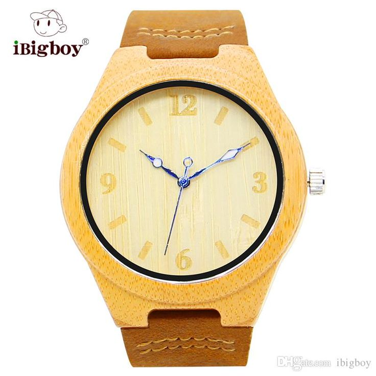 Ibigboy Chinese Style Yellow Bamboo Wooden Wrist Watches Quartz Movement Leather Strap Men Women Watches Ib 1600ad Swiss Watch Vintage Watches From Ibigboy, $15.82| Dhgate.Com