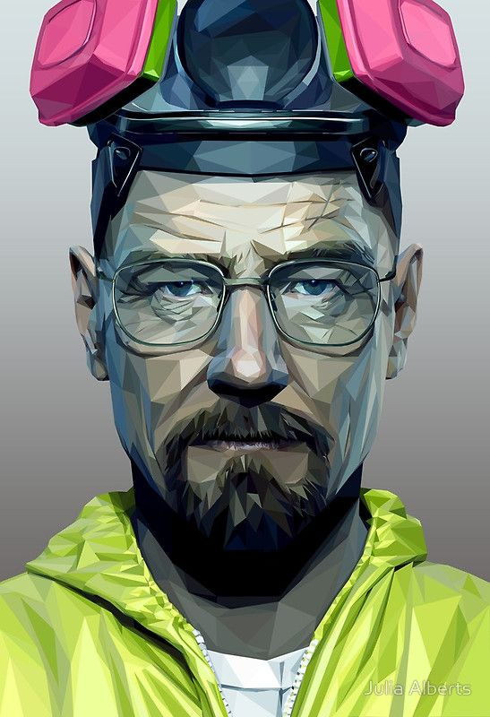 low poly walter white